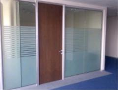 Partitions are office all-glass