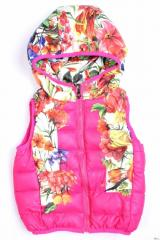 Original quilted vest for the girl