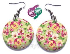 Ear rings beautiful Pansies