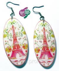 Оригинальные серёжки Весна в Париже