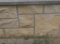 Фасадный камень натуральный - песчаник. Изделия из