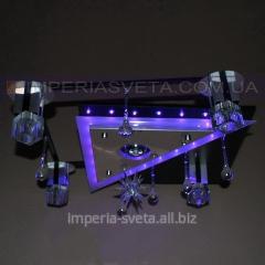 Люстра галогенная SVET пятиламповая с пультом дистанционного управления и диодной подсветкой