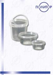 Banks from polypropylene 0,3l., 0,5l., 1 l.