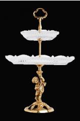 Этажерка 2-х ярусная Амур, бронза
