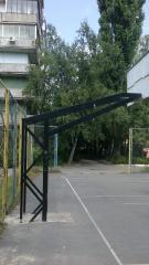 Стойка баскетбольная . вынос 1250 - 2000 мм...