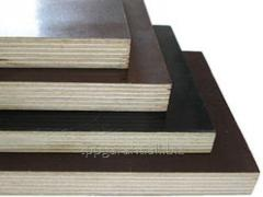 Plywood laminated, water-resistant, for formwork,