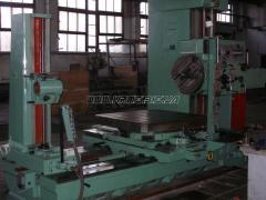 The machine horizontally boring 2620B (2622B), to