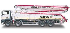 Автобетононасос CIFA модели K48 XRZ
