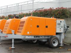 The stationary CIFA concrete pump of the PC...