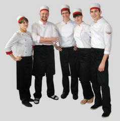 El uniforme para los cocineros