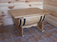 Barrel table, table from an oak barrel, furniture