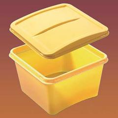 The container plastic for ice cream the cover the Code 1008k
