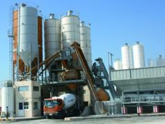 The stationary fast-built concrete plant of...