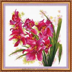 Sets for cross stitching (orchid)