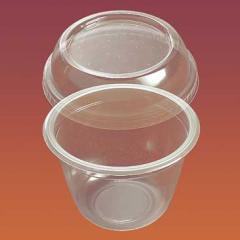 Креманка круглая с крышкой Код 4417