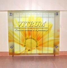 Screens glass for radiators