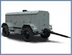 Station mobile compressor UKS-400V-P4M