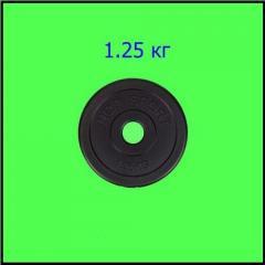 Disk for dumbbells and bars of 1,25 kg bituminous
