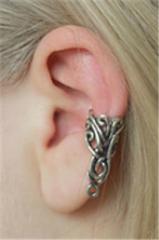 Кафф Бабочка в кельтском стиле серебристого цвета