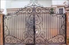 Gate are steel openwork