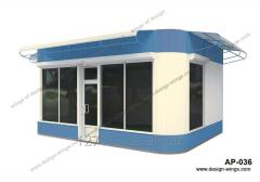 Construction of booths, pavilions, MAF quickly and