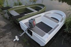 The boat for fishing, the boat for hunting
