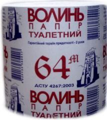 "Туалетная бумага ТМ ""Волинь"" 64м"