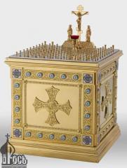 Стол панихидный на 88 свечей с металлической тумбой