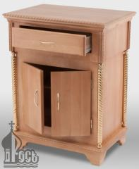 Стол литийный деревянный №4 с выдвижным ящиком