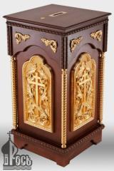 Карнавка деревянная №2 с позолоченными элементами и металлическим сейфом