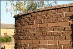 The brick is front facing