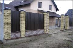 The brick is front yellow