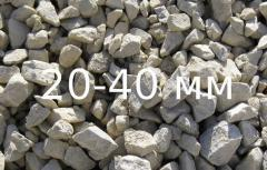 Crushed stone of fraction of 20-40 mm