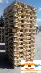 Buying up of europallets, / at pallets