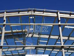 Metal frames of buildings