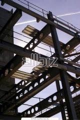 Production of metal skeletons of buildings and