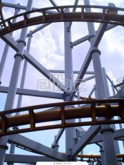 Production of Metal structures. Installation of