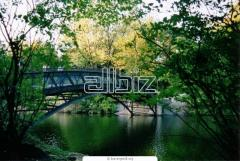 Pedestrian arched bridges. Manufacture and