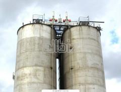 Oil storage tanks. Manufacture of steel