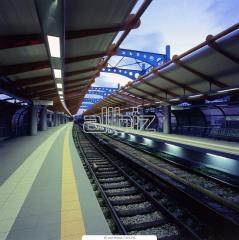 Platforms of the railway stations. Manufacture and