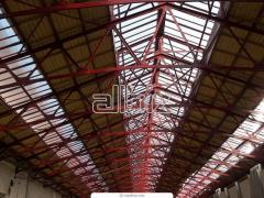 Arched trusses. Manufacture and installation of