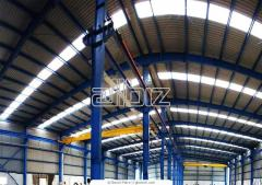 Warehouses. Manufacture and installation of steel