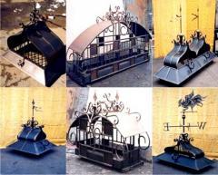 Флюгеры кованые Дымки и флюгера производство