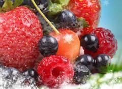 Замороженные абрикос, вишня, слива, клюква, смородина красная, черная, малина