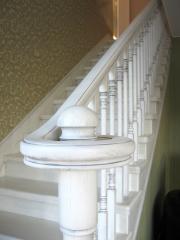 Rail-posts, carvings, ornaments, mosaics,