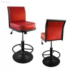 Bar stools on a metalframework