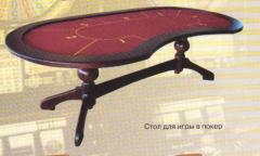 Table for game in poker.