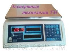 Scales trade electronic 15VP1-T, the size of a