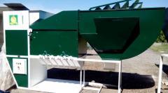 Сепаратор зерна с циклонно-осадочной камерой ИСМ 15