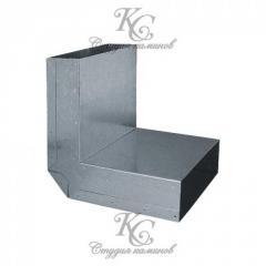 Колено 90 вертикальное для канала 15х50 мм - стена-потолок